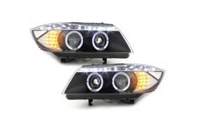 Set 2 faruri DAYLINE compatibil cu BMW E90 05+, 2 SLRLED negru