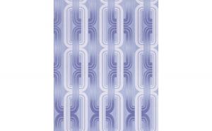 Tapet albastru model in lant 038-22