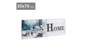 FAMILY POUND - Tablou cu LED - peisaj de iarna Family, 2 x AA, 30 x 70 cm GLZ-58019B