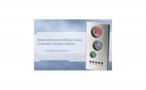 Statie meteo cu ceas, calendar si termometru, doar 39 RON in loc de 100 RON