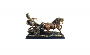 Statueta Car de lupta cu soldat 36x23 cm