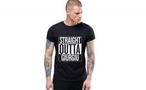 Tricou negru barbati - Straight Outta Giurgiu
