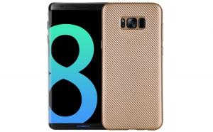 Husa Samsung Galaxy S8 Plus i-Zore Carbon Fiber Auriu