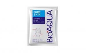 Masca servetel  anti acnee Bioaqua Pure Skin, OEM, 30 g