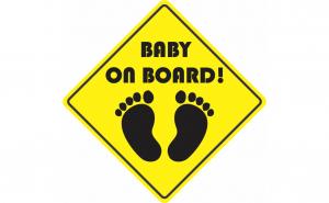 Baby on board  Sticker Autocolant - labute / 12 cm x 12 cm