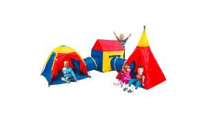 Set gigant 3 corturi cu 2 tunele, copii