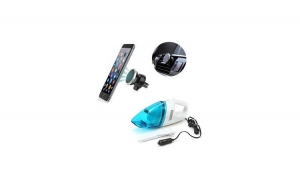 Set auto: Aspirator Auto + Suport magnetic telefon