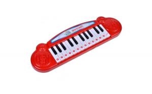 Instrument muzical de jucarie. model orga cu 24 clape. rosu. 34x10 cm