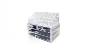 Organizator cutie depozitare pentru produse cosmetice cu 4 sertare