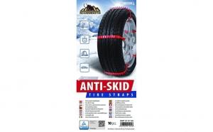 Set 10 fasete antiderapante pentru anvelope, o alternativa pentru lanturile de zapada