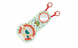 Jucarie interactiva Volan muzical bebe, ideal pentru calatorii, materiale ecologice, design atractiv