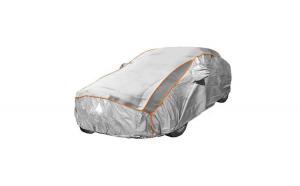 Prelata auto impermeabila cu protectie pentru grindina Fiat 500 - RoGroup, 3 straturi, gri