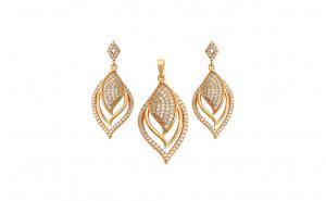 Set bijuterii Brilliant Sparkle,dublu placat Aur 24k