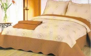 Cuvertura de pat 100% Bumbac Brodat