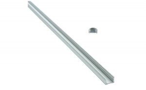 Profil aluminiu 886AL capac transparent 1m pentru banda led . Cod: profil 886AL