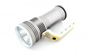 Lanterna Led 800lm, Reincarcabila Cu Acumulator, aluminiu T-6061, Argintie