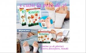 Plasturi pentru detoxifiere: 3 cutii de plasturi Kinoki