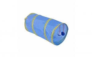 Tunel de joaca pentru pisici, nailon, 2 jucarii, 32 х 32 х 20 cm