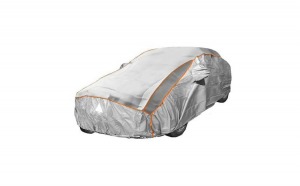 Prelata auto impermeabila cu protectie pentru grindina Fiat Idea - RoGroup, 3 straturi, gri