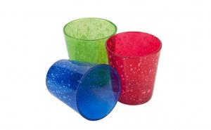 Set 3 parare sticla color, 360 ml