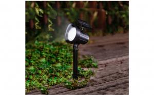 Lampa solara tip proiector LED, 15 lumeni, H 31 cm