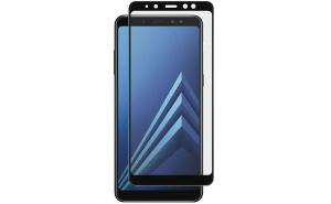 Folie sticla securizata full glue Samsung Galaxy A8 2018, negru, pentru protectie ecran