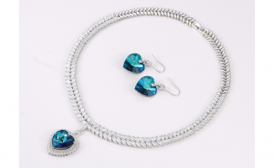 Set Exclusive Anebris Heart Swarovski