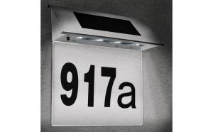 Numar de casa LED cu incarcare solara Cifre 0-9 Litere A-H
