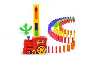 Tren domino 60 piese cu sunete si lumini