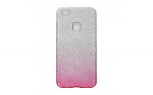 Husa silicon Glitter Huawei P10 Argintiu/Roz
