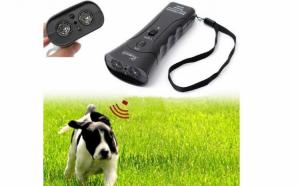 Autoaparare impotriva cainilor agresivi cu ajutorul noului dispozitiv cu ultrasunete, lanterna si laser