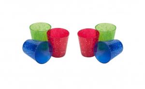 Set 6 pahare sticla color, 360 ml