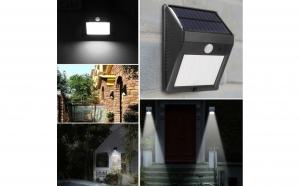 Set 3 x lampi cu 20 LED - incarcare solara si senzor de miscare