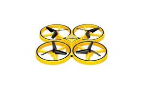 Drona elicopter cu inductie, control prin gesturi, telecomanda tip ceas, rotire 360 grade, leduri incorporate