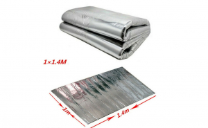 Material Insonorizant aluminiu 1.4 x 1m cu adeziv