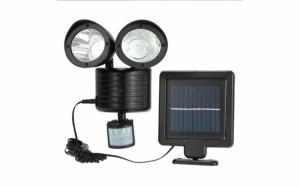 Lampa dubla cu panou solar