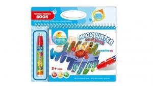 Carte de colorat cu apa si accesorii
