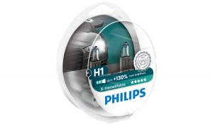 Set 2 becuri Philips 12v, 55w, H1 x-treme vision, 12258xv+s2