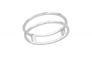 Inel argint, Linie Dubla, Silver, Marimea 57, A4S39497
