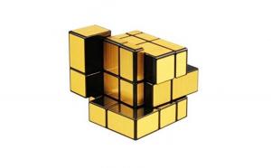 Cub Rubik 3x3x3 QiYi Mirror gold, 129CUB