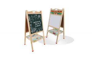 Tabla de scris din lemn, magnetica, cu