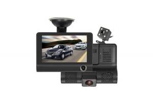 Camera auto DVR, 3 camere incluse fata/spate si interior, ecran 4 inch