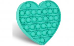 Jucarie senzoriala silicon inima verde