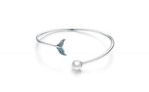 Bratara reglabila din argint 925 Blue Mermaid