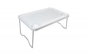 Masă - Tavă pliantă din plastic, alb, 58x36x25 cm