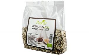 QUINOA 3X - amestec BIO de quinoa (neagra, rosie si alba), 400g