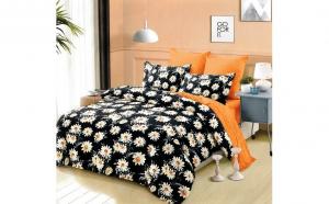 Lenjerie pentru pat dublu cu 2 fete, din finet de calitate superioara, 6 piese