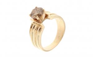 Inel din aur galben 14K cu diamant