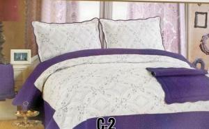 Cuvertura de pat + 2 fete de perna din bumbac brodat, la doar 99 RON in loc de 280 RON