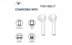 Set 2 casti wireless i7, Twins Stereo True Wireless Earbuds V4.2+DER, High Definition Music, cu Microfon, Apeluri Telefon